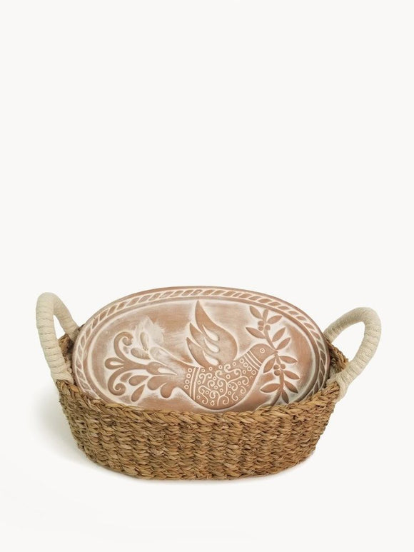 Oval Bird Bread Warmer & Basket