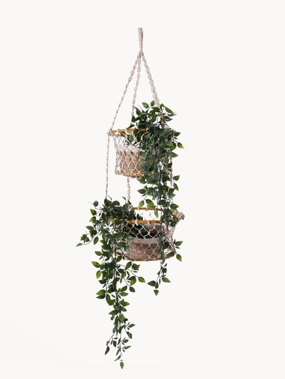 Fair Trade Double Hanging Basket