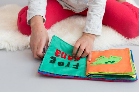 Handmade Cotton Spanish-English Animal Book