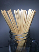 Load image into Gallery viewer, Eco-Friendly Natural Disposable Wheat Hay Drinking Straws