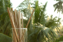 Load image into Gallery viewer, Eco-Friendly Palm Leaf Disposable Drinking Straws (50-Count)
