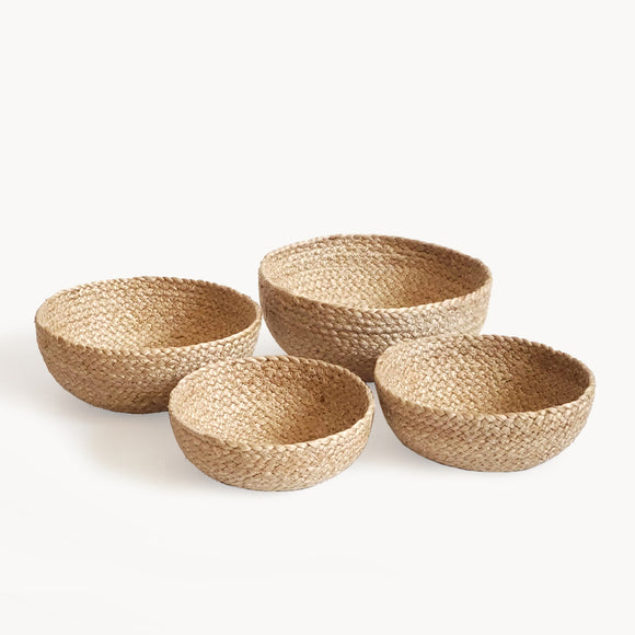 Set of 4 Handwoven Free Trade Organizing Bowls