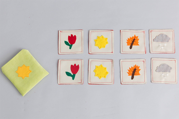 Handmade Upcycled Seasons Memory Game-Mini