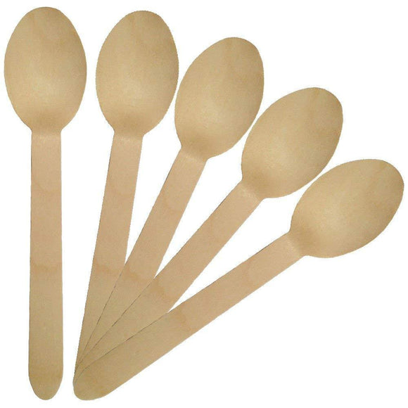All Natural Disposable Wooden Spoons ( 100 count)