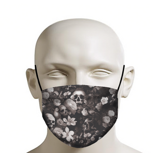Skulls and Flowers Face Mask