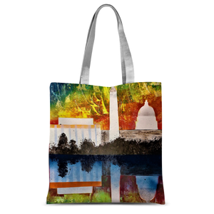 "🌎 WASHINGTON D.C. JON EYE ART ""D.C"" Reusable Art Tote Bag 🌎"