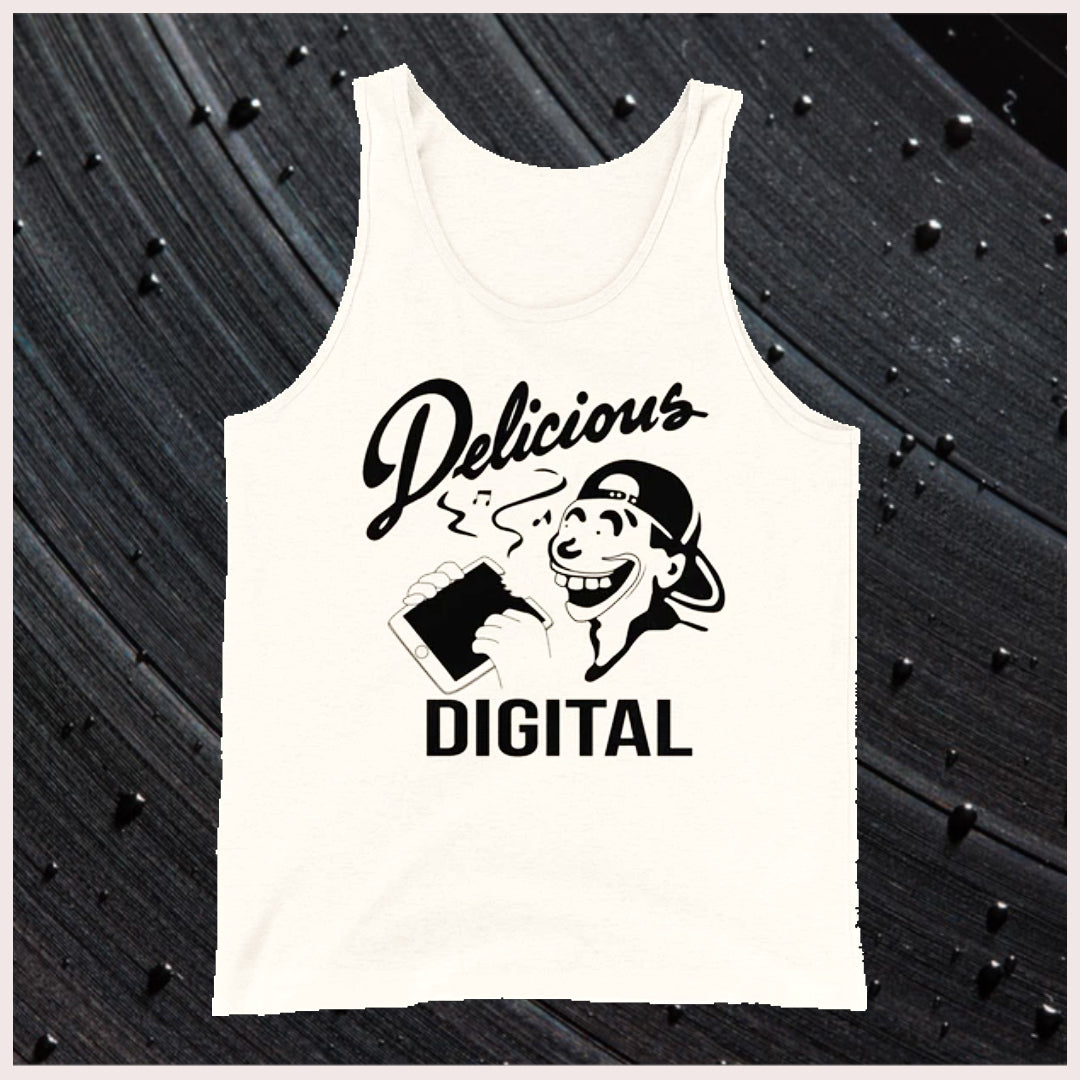 "👕 ""DELICIOUS DIGITAL"" UNISEX COTTON TANK TOP 👕"