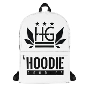 💼 HOODIE GOODIES MEDIUM SIZED WATERPROOF WHITE & BLACK BACKPACK 💼 - HoodieGoodies