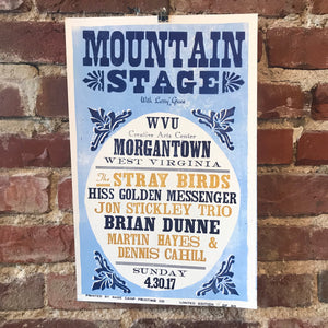 April 30th, 2017 Mountain Stage Poster