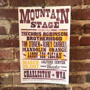 March 26th, 2017 Mountain Stage Poster