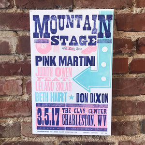 March 5th, 2017 Mountain Stage Poster