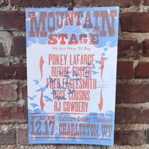 February 12th, 2017 Mountain Stage Poster