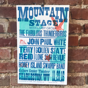 November 20th, 2016 Mountain Stage Poster