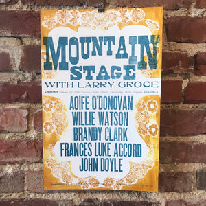 October 30th, 2016 Mountain Stage Poster
