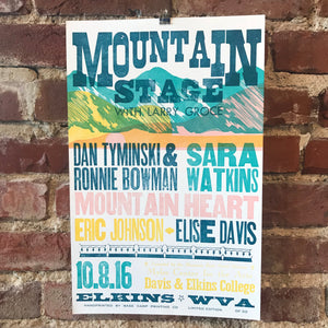 October 8th, 2016 Mountain Stage Poster