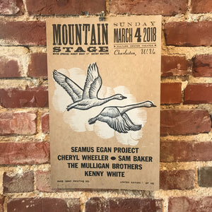 March 4th, 2018 Mountain Stage Poster