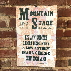 March 25th, 2018 Mountain Stage Poster