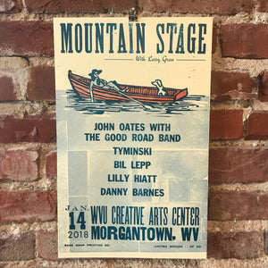 January 14th, 2018 Mountain Stage Poster