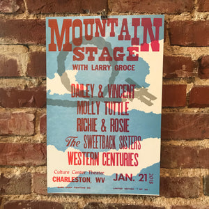 January 21st, 2018 Mountain Stage Poster
