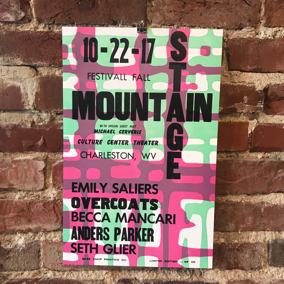 October 22nd, 2017 Mountain Stage Poster