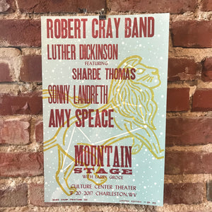 August 20th, 2017 Mountain Stage Poster