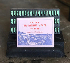 Mountain State of Mind Postcard