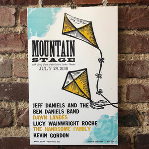 July 29th, 2018 Mountain Stage Poster