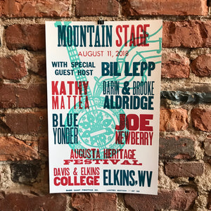 August 11th, 2018 Mountain Stage Poster