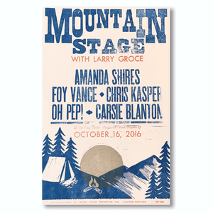 October 16th, 2016 Mountain Stage Poster