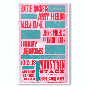 October 21st, 2018 Mountain Stage Poster