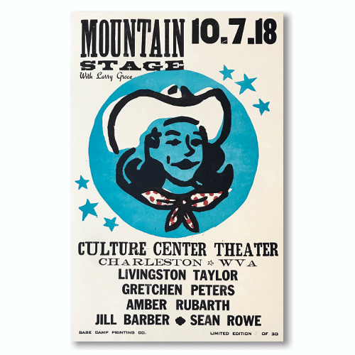 October 7th, 2018 Mountain Stage Poster