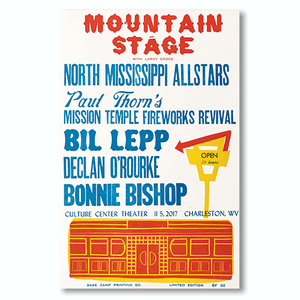 November 5th, 2017 Mountain Stage Poster