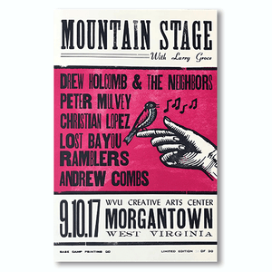 September 10th, 2017 Mountain Stage Poster