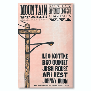 September 16th, 2018 Mountain Stage Poster