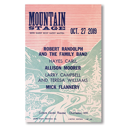 October 27th, 2019 Mountain Stage Poster