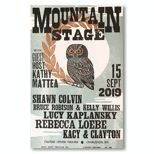 September 15th, 2019 Mountain Stage Poster