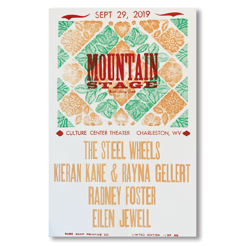 September 29th, 2019 Mountain Stage Poster