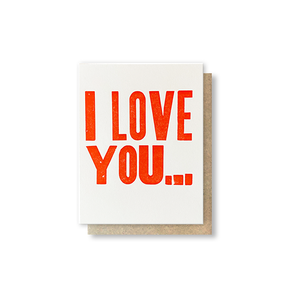 I Love You Accordion Greeting Card