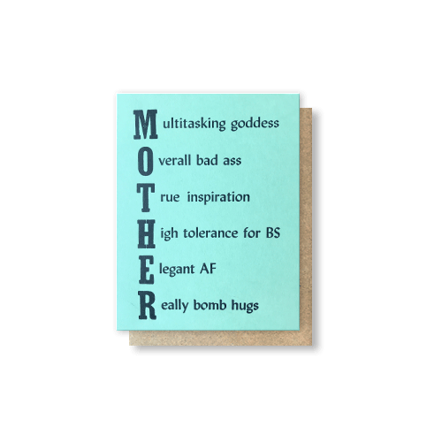 Mother Acrostic Greeting Card