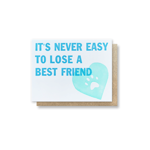 Best Friend Sympathy Card