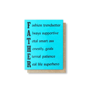 Father Acrostic Greeting Card