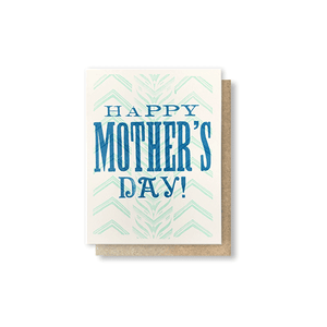 Happy Mother's Day - Chevron Greeting Card