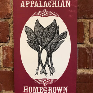 Appalachian Homegrown Ramp Print