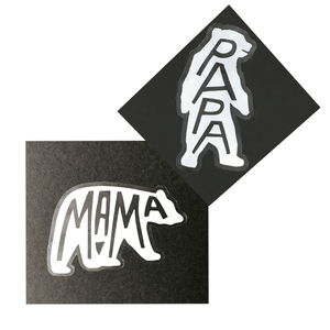 Mama & Papa Bear Stickers