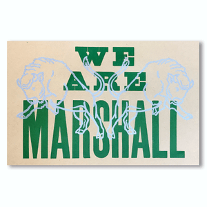 We Are Marshall Print