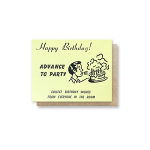 Monopoly Chance: Birthday Greeting Card