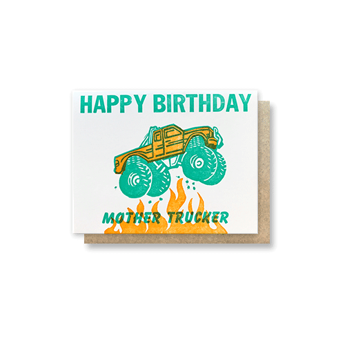 Mother Trucker Birthday Card