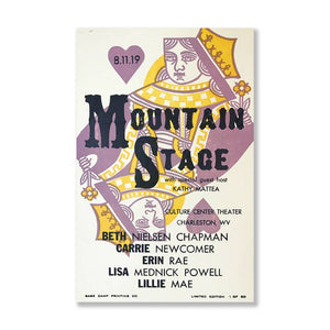 August 11th, 2019 Mountain Stage Poster