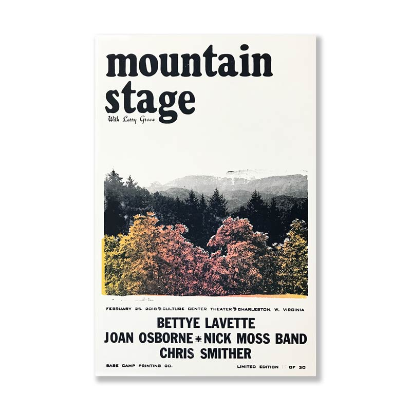 February 25th, 2018 Mountain Stage Poster