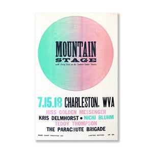 July 15th, 2018 Mountain Stage Poster